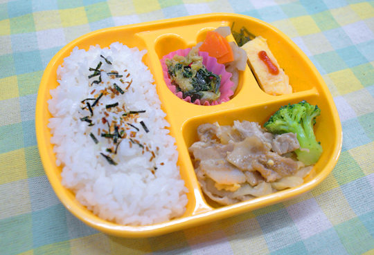 豚肉と野菜の炒め物弁当